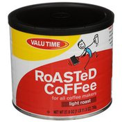 Valu Time Roasted Coffee For All Coffee Makers, Light Roast