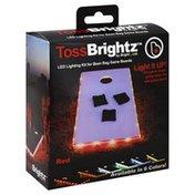 Brightz Cornhole Board Lights - Red