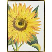 Caspari Boxed Notes, Assorted, Sunflower