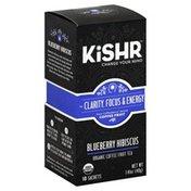 Kishr Coffee Fruit Tea, Organic, Blueberry Hibiscus, Sachets