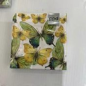Paperproducts Design Green Butterflies Cocktail Napkins