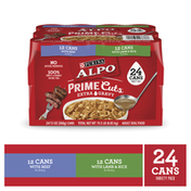 Purina Gravy Wet Dog Food Variety Pack, Prime Cuts With Beef & With Lamb