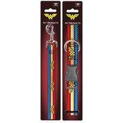 Buckle-Down 4' Length Medium Wonder Woman Dog Leash & Collar Set
