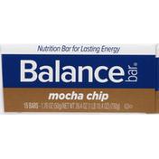 Balance Bar Nutrition Bar, Mocha Chip