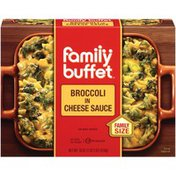 Family Buffet In Cheese Sauce Broccoli