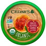 Cedar's Foods Topped Organic Roasted Red Pepper Hommus