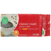 Food Club Medium Classic Roast 100% Ground Coffee