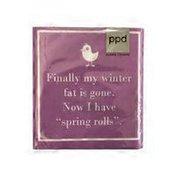 Paperproducts Design Spring Beverage Napkin Rolls