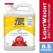 Purina Tidy Cats Light Weight, Low Dust, Clumping Cat Litter, 24/7 Performance Multi Cat Litter