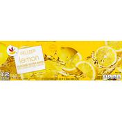 SB Seltzer Water, Lemon, 12 Pack