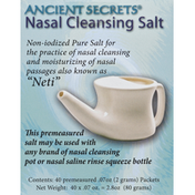 Ancient Secrets Nasal Cleansing Salt Packets