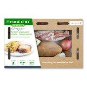Home Chef Sirloin Steak And Garlic-Tomato Aioli