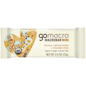 GoMacro Macrobar, Coconut + Almond Butter + Chocolate Chips, Mini