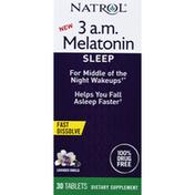 Natrol Sleep, 3 AM, Melatonin, Tablets, Lavender Vanilla