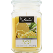 Enticing Aromas Candle, Lemon & Mint, Soy Blend, Scented
