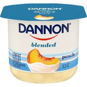 Dannon Blended Peach Lowfat Yogurt