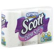 Scott Bathroom Tissue, Unscented, Mega Rolls, One Ply