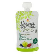 Nature's Promise Organic Baby Food Apple Berry Blend 6m+