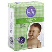Baby Basics Diapers, Flexible Fit, Size 5 (27 lb & Over)