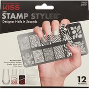 Kiss Stamp Styler, 12 Patterns