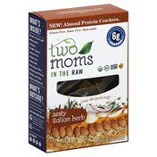 Two Moms In The Raw Crackers, Almond Protein, Zesty Italian Herb