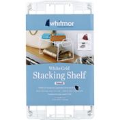 Whitmor White Grid Stacking Shelf Small