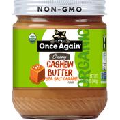 Once Again Cashew Butter, Organic, Sea Salt Caramel Flavor, Creamy