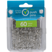 Simply Done Push Pins, Clear