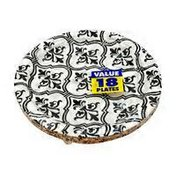 """Amscan 7"""" Dots Round Damask Dessert Party Plates"""