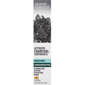 Desert Essence Toothpaste, Activated Charcoal, Fresh Mint
