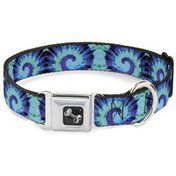 """Buckle-Down 1.5"""" Extra Large Tie Dye Dog Collar"""