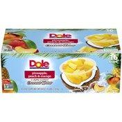 Dole Pineapple, Peach & Mango in Slightly Sweetened Coconut Water Dole Pineapple, Peach & Mango in Slightly Sweetened Coconut Water