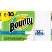 Bounty Select-A-Sizes, White, = 10 Regular Rolls  Paper Towels