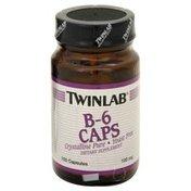 Twinlab B-6 Caps, 100 mg, Capsules