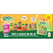 GoGo Fruit & Veggies On the Go, Family Size, Variety Pack, 20 Pack