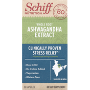 Schiff Ashwagandha Extract, Whole Root, Capsules