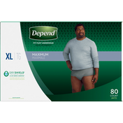 Depend Underwear, Maximum Absorbency, XL, Men