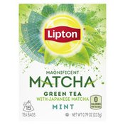 Lipton Mint Tea Bags Green Tea Japanese Matcha And Mint