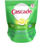 Cascade ActionPacs Lemon Scent Dishwasher Detergent