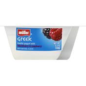 Muller Yogurt, Greek Style, Lowfat, with Blackberry & Raspberry