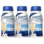 Ensure Original Nutrition Shake Vanilla Ready-to-Drink Bottles