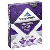 Georgia-Pacific Multi-Purpose Paper, Standard Bright 96/20, 8.5 Inch x 11 Inch