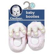 Gerber Booties, Baby, 0-6 Months
