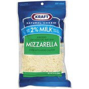 Kraft Mozzarella Low-Moisture Part-Skim W/Added Calcium Made W/2% Milk Shredded Cheese