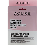 ACURE Mask, Biocellulose, Seriously Soothing