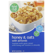 Food Club Toasted Multi-Grain Cereal With Honey Oat Clusters & Almonds