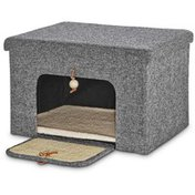 """You & Me 16.8"""" Cat Lounge Box With Scratcher"""