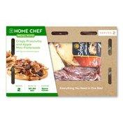 Home Chef Crispy Prosciutto And Apple Mini-Flatbreads With Figs And Balsamic Glaze