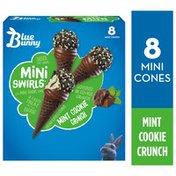 Blue Bunny Mini Swirls Mint Cookie Crunch Cones