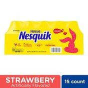 Nestle Nesquik Strawberry Flavored Lowfat Milk, Ready to Drink